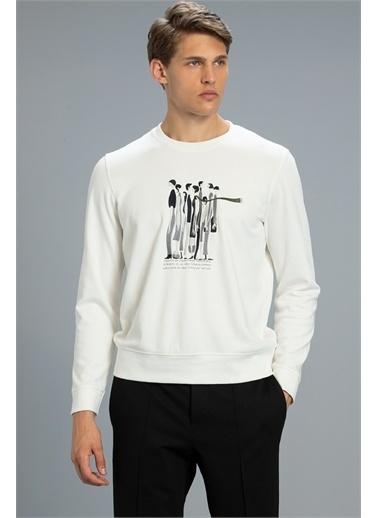 Lufian Stıllo Sweatshirt   Beyaz